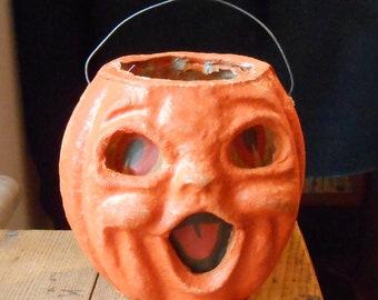 Vintage Pressed Cardboard Halloween Jack-o-lantern #2