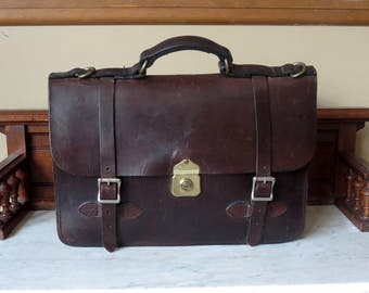 Filson Field Satchel In Brown Bridle Leather With Crossbody Strap- A Bag Worthy Of Atticus Finch
