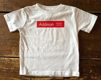 Addison Chicago Red Line L Train Cubs Stop Toddler T-shirt