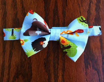 Baby Blue Woodland Creature Bow Tie