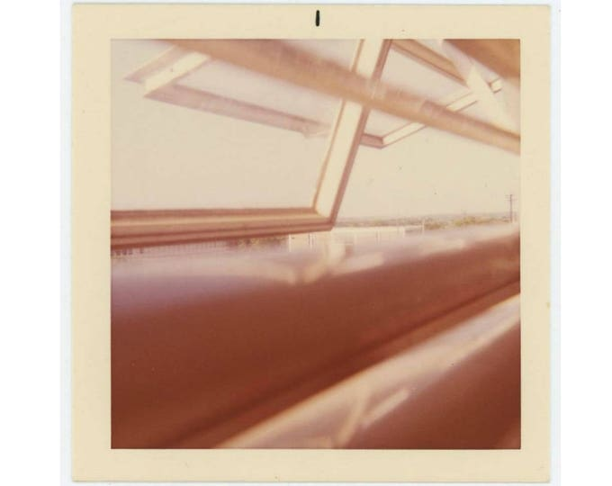 Vintage Snapshot Photo: Open Windows, Abstract, c1960s (74565)
