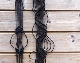 Two Black macrame - wall hanging - wall hanging - 4979