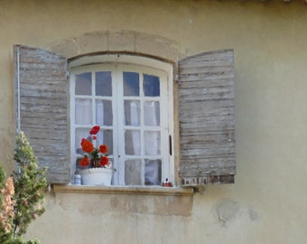 French Window with Red Geranium
