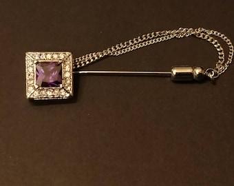 Tie/Cravat/lapel Pin's High Quality Elements Luxury LILAC SPARKLE