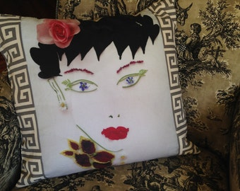 UNIQUE THROW PILLOW from my Original Flower Art for your Home Decor