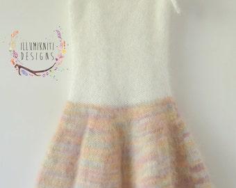 DIY Knitting Pattern - Ella Angora Sitter Dress Knitting Pattern Photography Prop - Instant Download