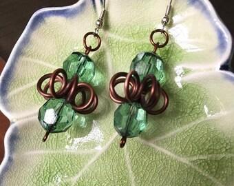 Jade Lotus Earrings
