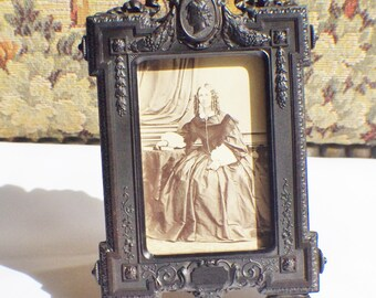 Antique picture frame made of gutta percha 1860s