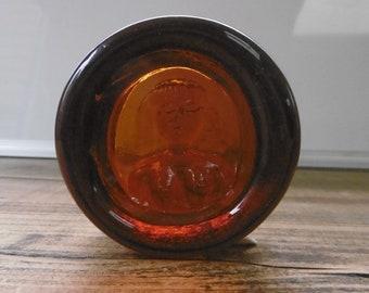 "A Kosta Boda- Swedish amber glass ""Eve""bowl designed in the 1960s by Erik Höglund"