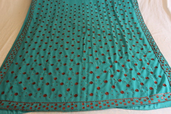 Sari,Indian Sari Curtains,fabric By Yard , Art Deco Fabric,sari,indian Saree,  Veil,curtain Fabric,5 Yard Fabric, Stole,hijab,used Sari From  VintageBaazarr ...