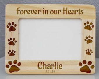 Custom Engraved Dog Wooden Frame 4 x 6, memorial pet frame * personalized pet frame * pet frame * dog Frame * cat Frame * pet loss frame