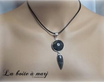 Knock round unakite pendant
