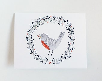 Berry Bird - Greeting Card