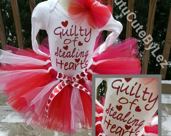 Guilty of Stealing Hearts Valentine's Day Tutu Set