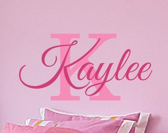 Name Decal - Name Wall Decal - Vinyl Wall Decal - Personalize Wall Decal - Name Decal for Wall - Girl Name Wall Decal - for Nursery