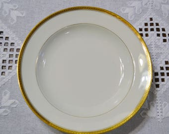 Vintage Haviland Limoges Soup Bowl Wright Tyndale Van Roden White Gold Band France Replacement PanchosPorch
