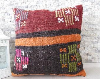 turkey pillow 20x20 kilim pillow floor pillow cushion decorative pillow tribal pillow sofa pillow aztec pillow rustic pillow throw pillow