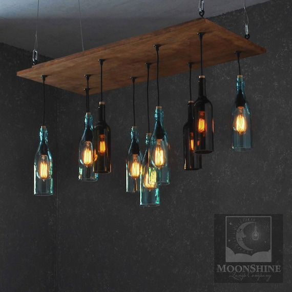 The napa recycled bottle chandelier like this item aloadofball Choice Image