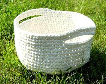 Large storage basket with bin Large crochet basket Birthday gift baskets for women Laundry Basket Storage Bin Home decor Kids storage basket