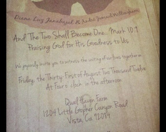 Rustic Barn Wedding Invitation, Barn Wedding invitation, outdoor wedding