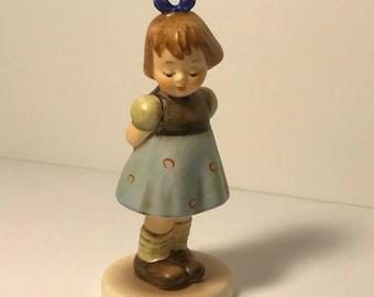 1992 HUMMEL GOEBEL FIGURINE tmk-7 mark west Germany W original retired porcelain statue sculpture membership club Two 2 hands one treat girl