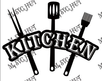 Kitchen and Utensil vinyl wall art template