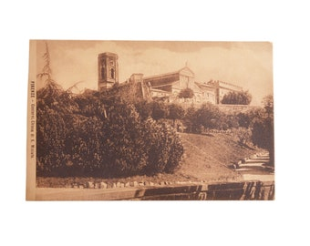 """Antique 1910-s Postcard Florence Church of S. Miniato Italy Paper 5,39""""x3,50"""""""