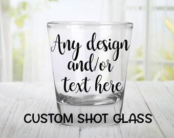 SALE! Buy 10 get 2 FREE! Custom Shot Glass,Personalized Shot Glasses ,WeddingFavor,Bridesmaids Presents,Groomsmen Gifts,Birthday Present,