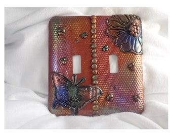 Polymer clay switchplate cover