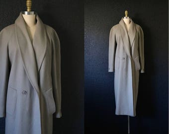 taupe gray wool trench