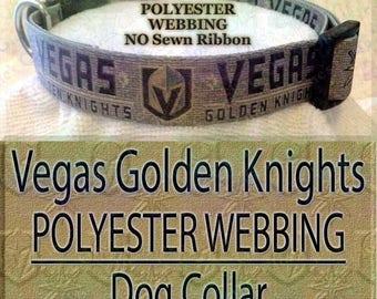 Polyester Webbing Vegas Golden Knights NHL Ice Hockey Designer Novelty Dog Collar