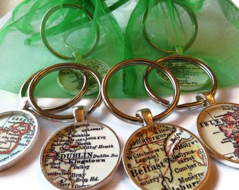 Wife gift keychain, Men Keychains, Custom Map Keychain for Men, Personalized Mens Key chain, Husband Gift, Father's Day Gift