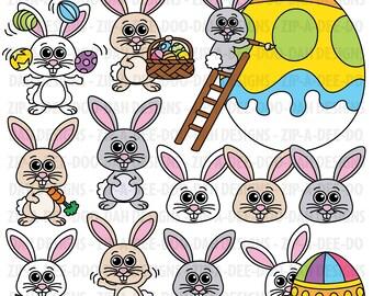 Easter Bunnies Clipart Set {Zip-A-Dee-Doo-Dah Designs}