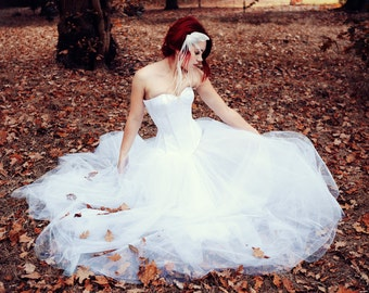 "dress ""Julia"" // White bridal corset dress made to measure."