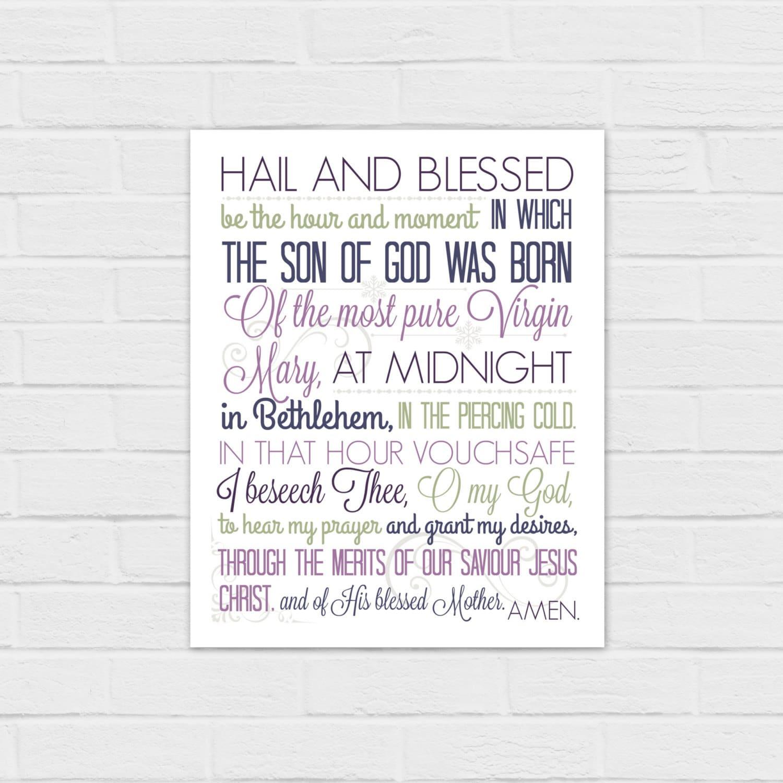 8x10 Christmas Anticipation Prayer in purple digital