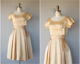 Vintage Prom Dress | Vintage 1950s Dress | 50s Dress | 50s Party Dress | 1950s Formal Dress | 1950s Satin Dress