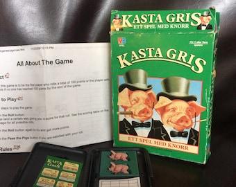 Vintage 80's Swedish game- Kasta Gris