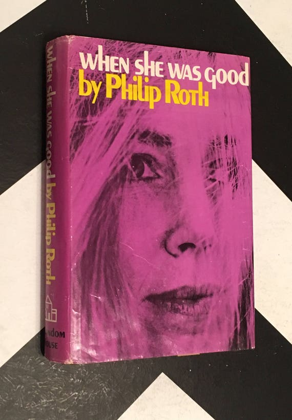 When She Was Good by Philip Roth purple vintage fiction novel (Hardcover, 1967)