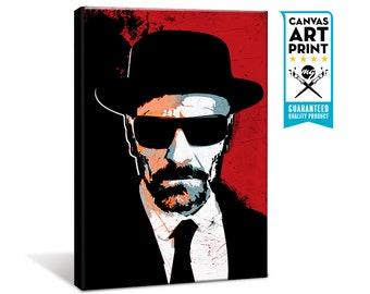 Breaking Bad - Heisenberg - Canvas Art Print, Walter White, Breaking Bad art, Pop Art, Geekery, Art Print, Canvas Print