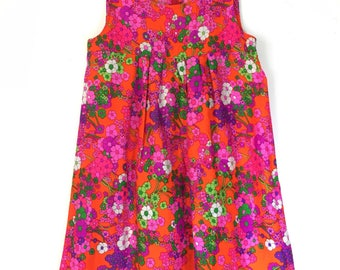 60s DayGlo Flower Power Dress