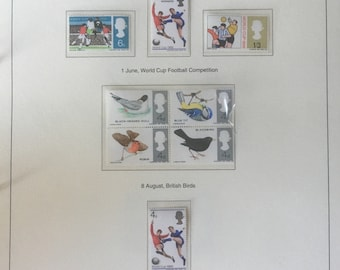 A collection of pre decimal British postage stamps from the 1960s