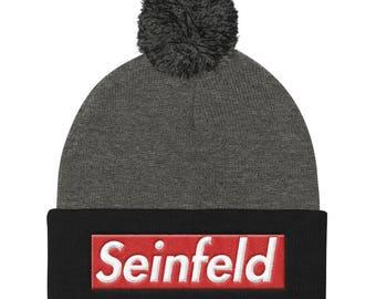 Seinfeld Supreme Box Logo Winter Pom Pom Beanie Hat