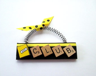 Book Club Scrabble Tile Ornament
