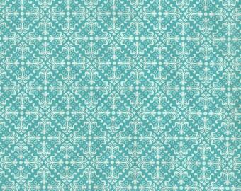 Keepsake Calico Fabric No Print Aqua