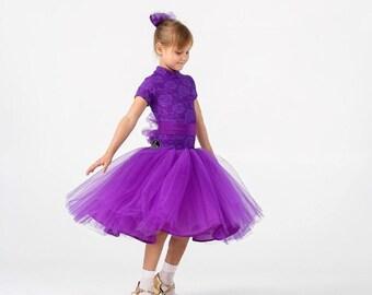 Juvenal (basic) dress for ballroom dancing PURPLE DOLL