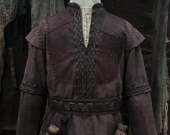 Viking Leather Jacket (inspired Ragnar Lothbrok) / custom size / LARP equipment / style fantasy / made to order