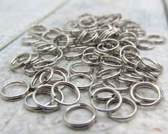 6mm Split Ring - Stainless Steel Split Rings - Set of 100 - SST Findings 6mm (072)