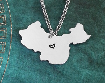 China necklace etsy china necklace china jewelry china pendant country necklace chinese gift long distance relationship china charm personalized aloadofball Image collections