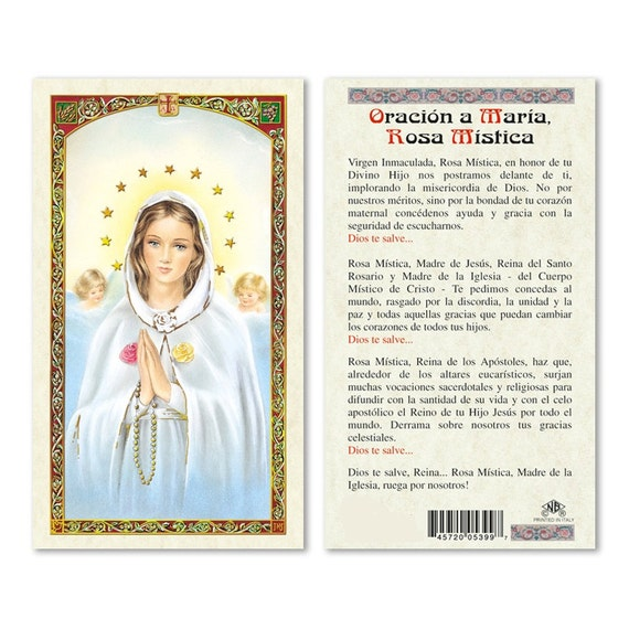 Oracion a maria rosa mistica tarjetas de rezo en espanol altavistaventures Choice Image
