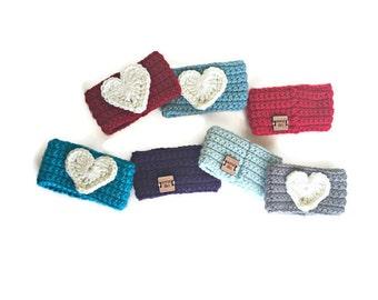 Heart Coffee Sleeve, Coffee Cozy, Crochet Coffee Cozy, Coffee Cup Cozy,  Crochet Cup Cozy, Heart Coffee Cozy, Knit Coffee Sleeve